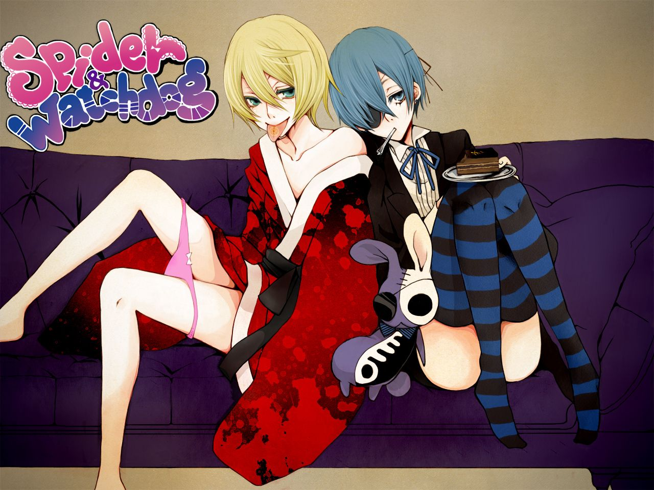 Alois & Ciel Versión Panty & Stocking with Garterbelt