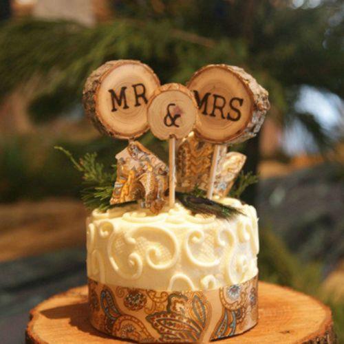 3tlg Holz Kuchenstecker Cake Topper Tortenaufsatz Tortenfigur Hochzeit Deko Tortenfiguren Hochzeit Rustikale Hochzeitstorten Holzerne Hochzeit