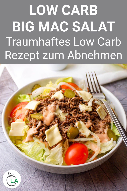 Low Carb Big Mac Salat – Das Original Rezept von Lecker Abnehmen