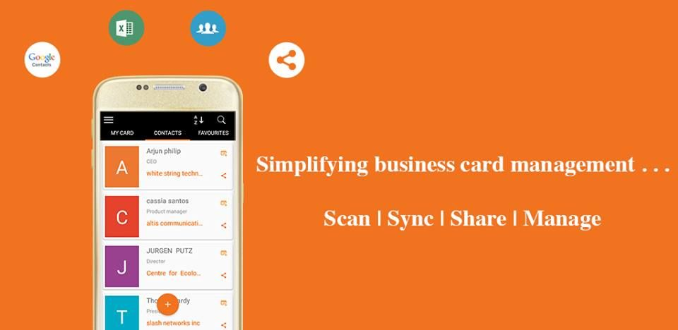 Managing And Exchanging Businesscards Simplified With Bricapp Business Card Scanner Scanner App Business Cards