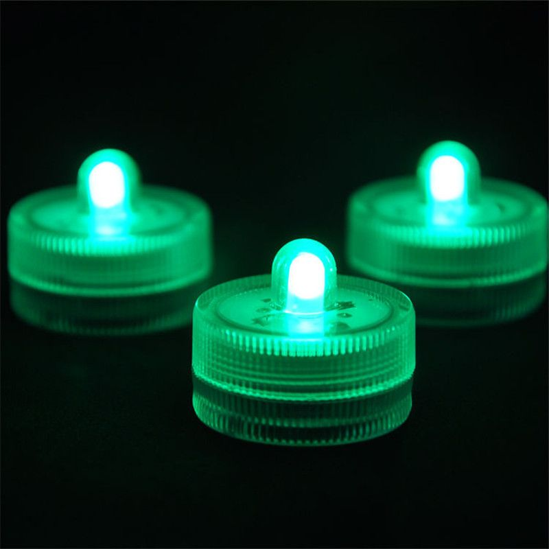 10 pieces/lot) Submersible Non-Blinking Tealight LED Centerpiece - halloween fish tank decorations