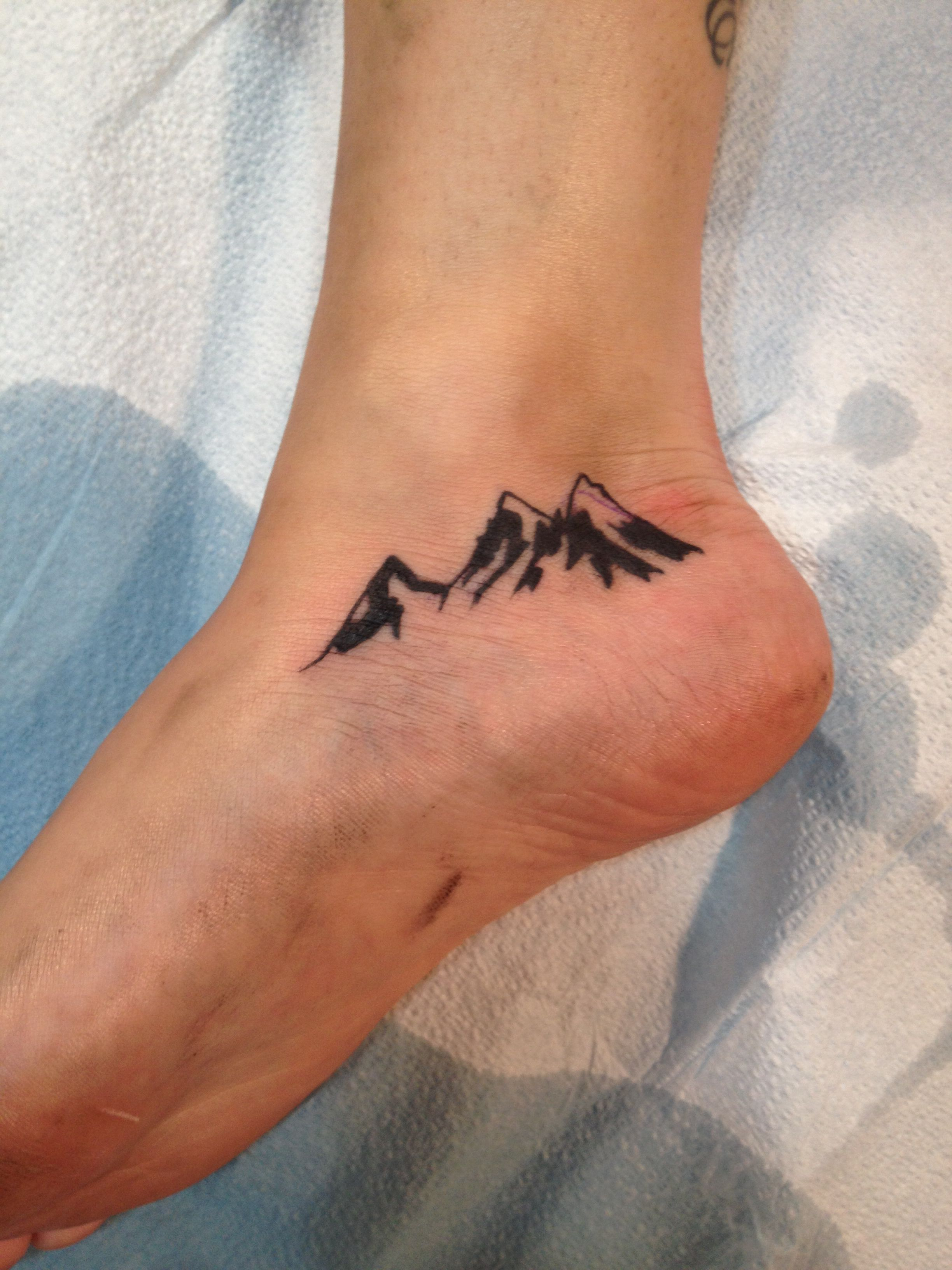 Small Classy Tattoo Ideas: Mountains Tattoo. Canadian Rockies. Simple. Classy