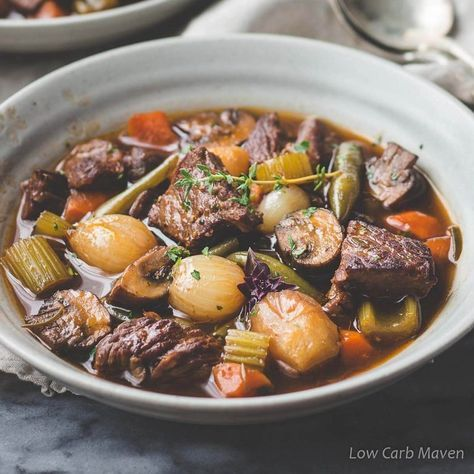 Amazing Low Carb Beef Stew Gluten Free Keto Whole30 Low Carb