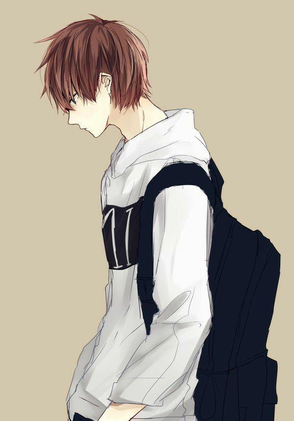 Hoodie Cute Anime Boy Drawing : hoodie, anime, drawing, Brown, Anime, Guys,, Drawings