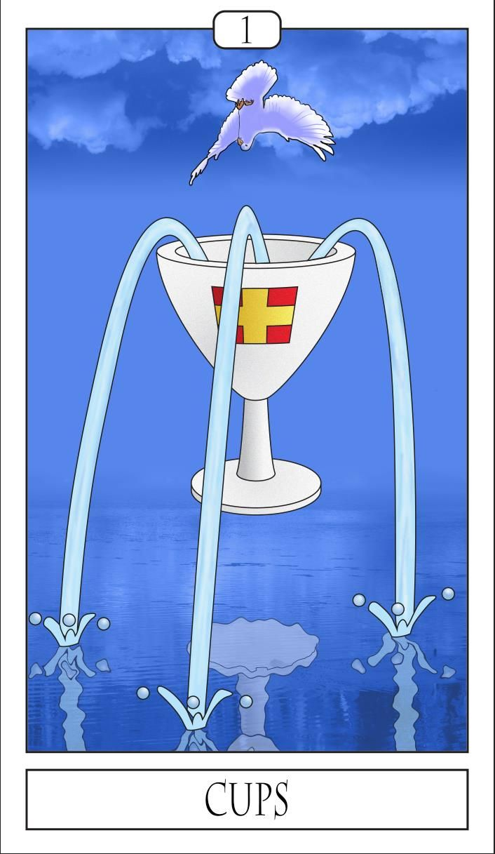 Card of the day: Ace of Cups  The ace of cups is the root of