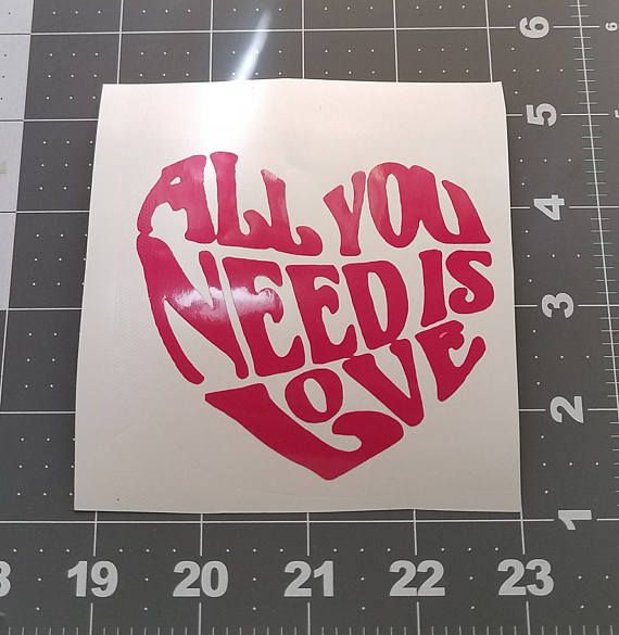 All You Need Is Love Heart Decal For Tumbler Vinyl Decal For Yeti - Custom vinyl decals for tumblers