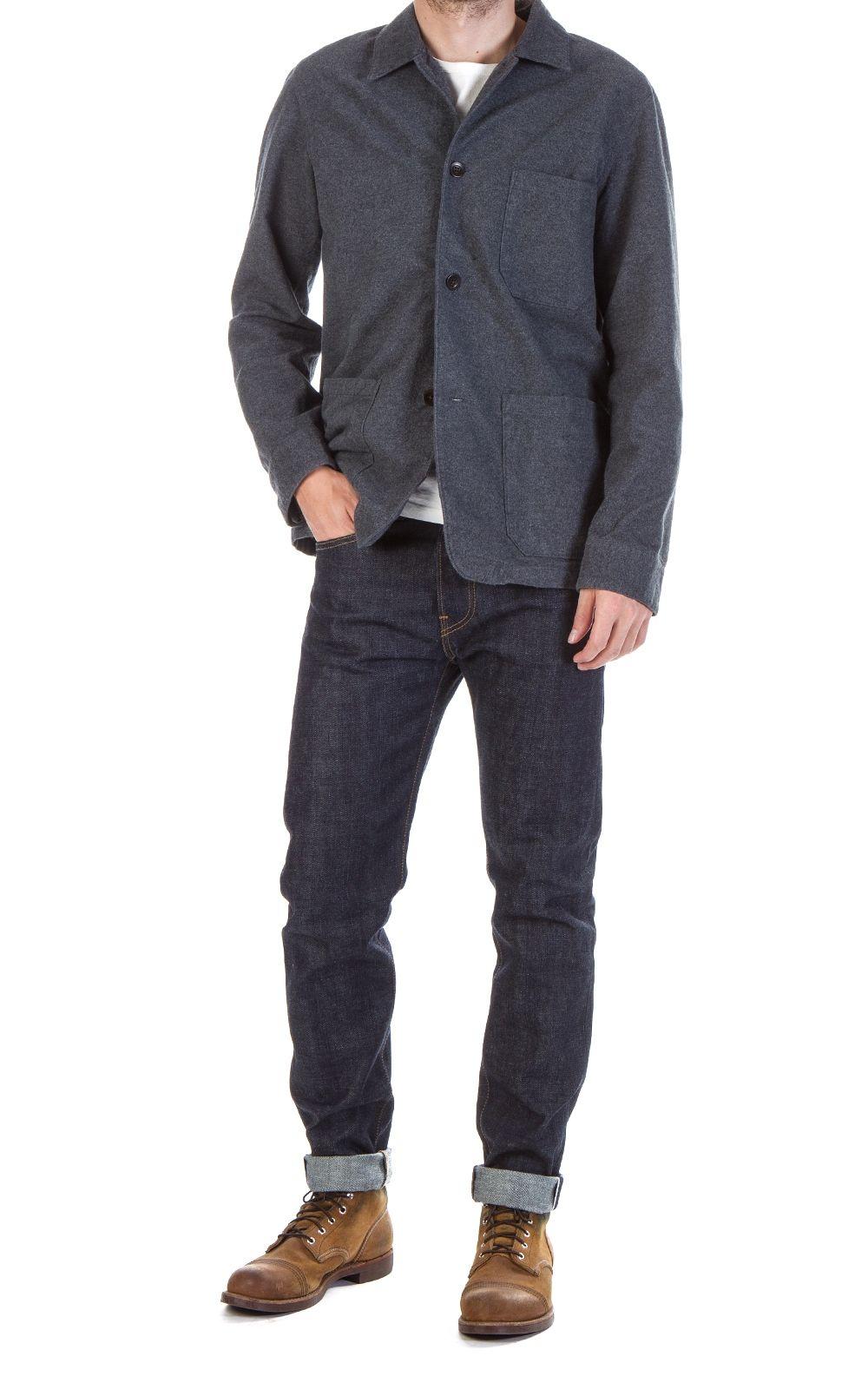 2c0f63bf95 Portuguese Flannel Pinheiro Jacket Grey