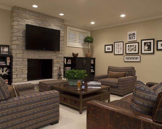 Ordinaire Shaker Beige By Ben Moore Seeley Media Room   Contemporary   Family Room    Chicago   Michael Abrams Limited