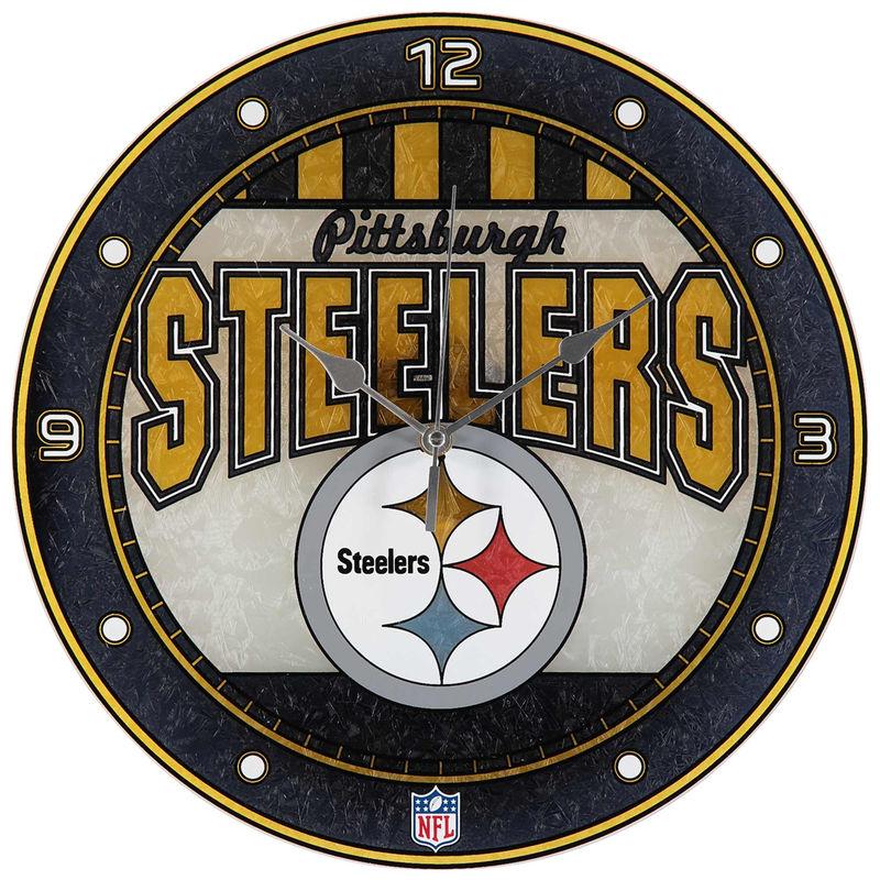 Pittsburgh Steelers ArtGlass Wall Clock Glass wall art