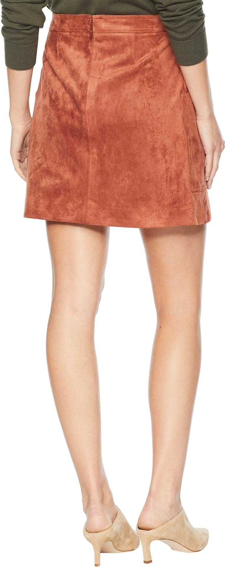 BCBGMAXAZRIA Womens Corinne Faux-Suede Mini Skirt