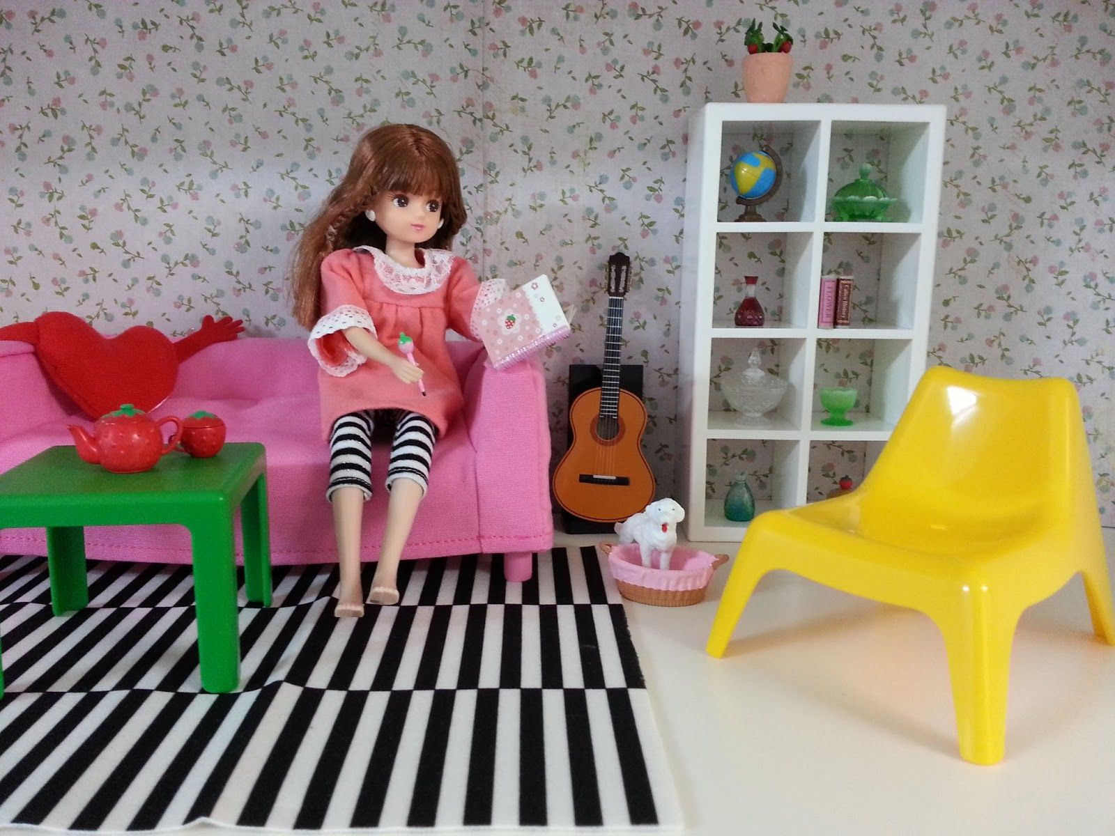 Ikea dollhouse furniture with licca doll licca doll - Casa munecas ikea ...