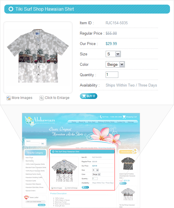 Custom Option Display: Ydeveloper's custom option display will help you display the #products according to the size and colors selected by your users. #ecommerce #merchants - Ydeveloper.com