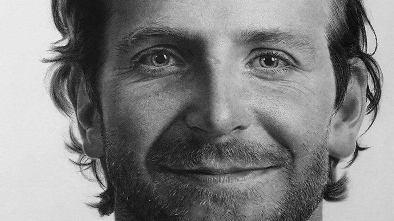 This Is Actually A Drawing Of Bradley Cooper Check Out This Video - Artist uses pencils to create striking hyper realistic portraits