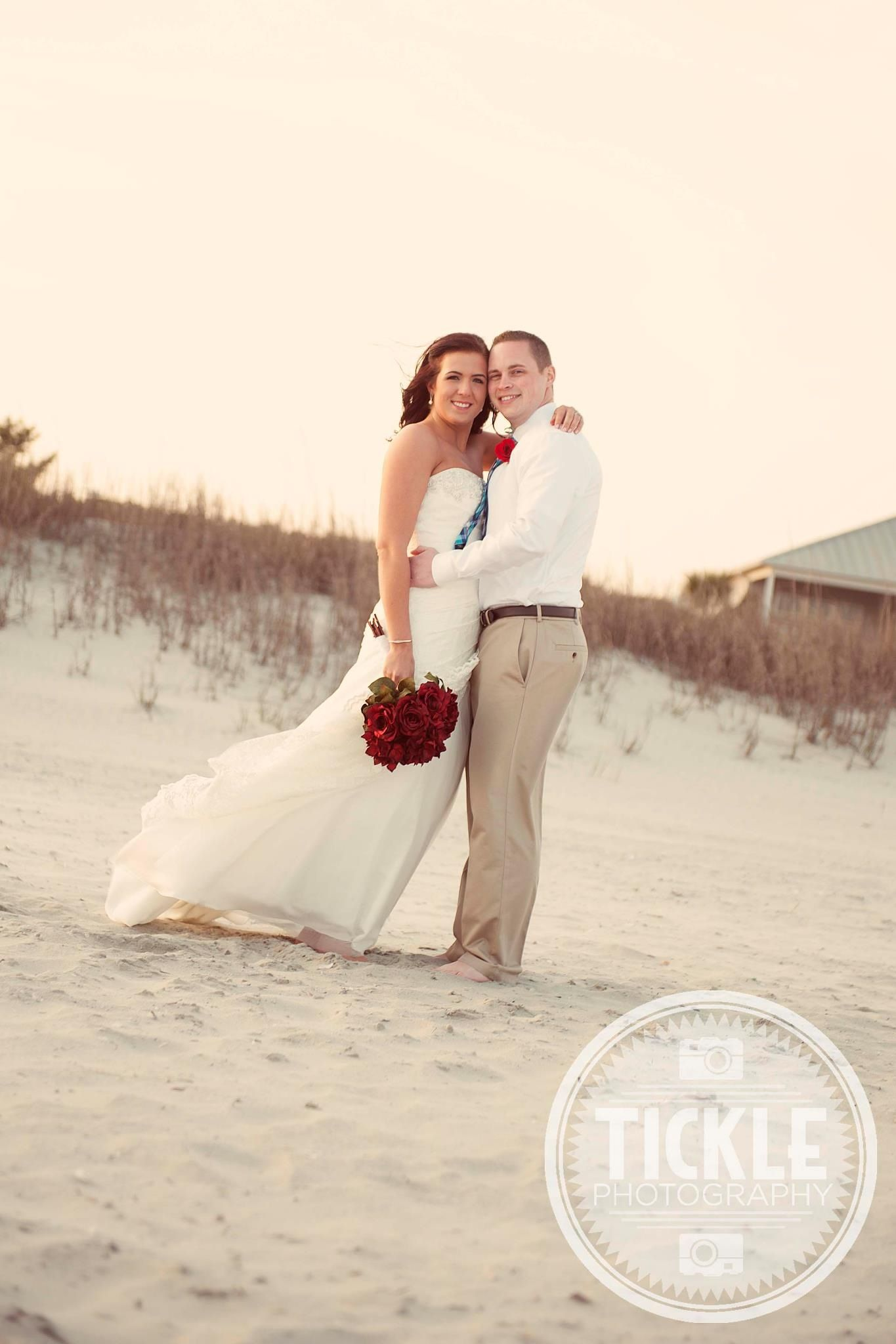 Beach Wedding Cherry Grove Sc North Myrtle Tickle Photography