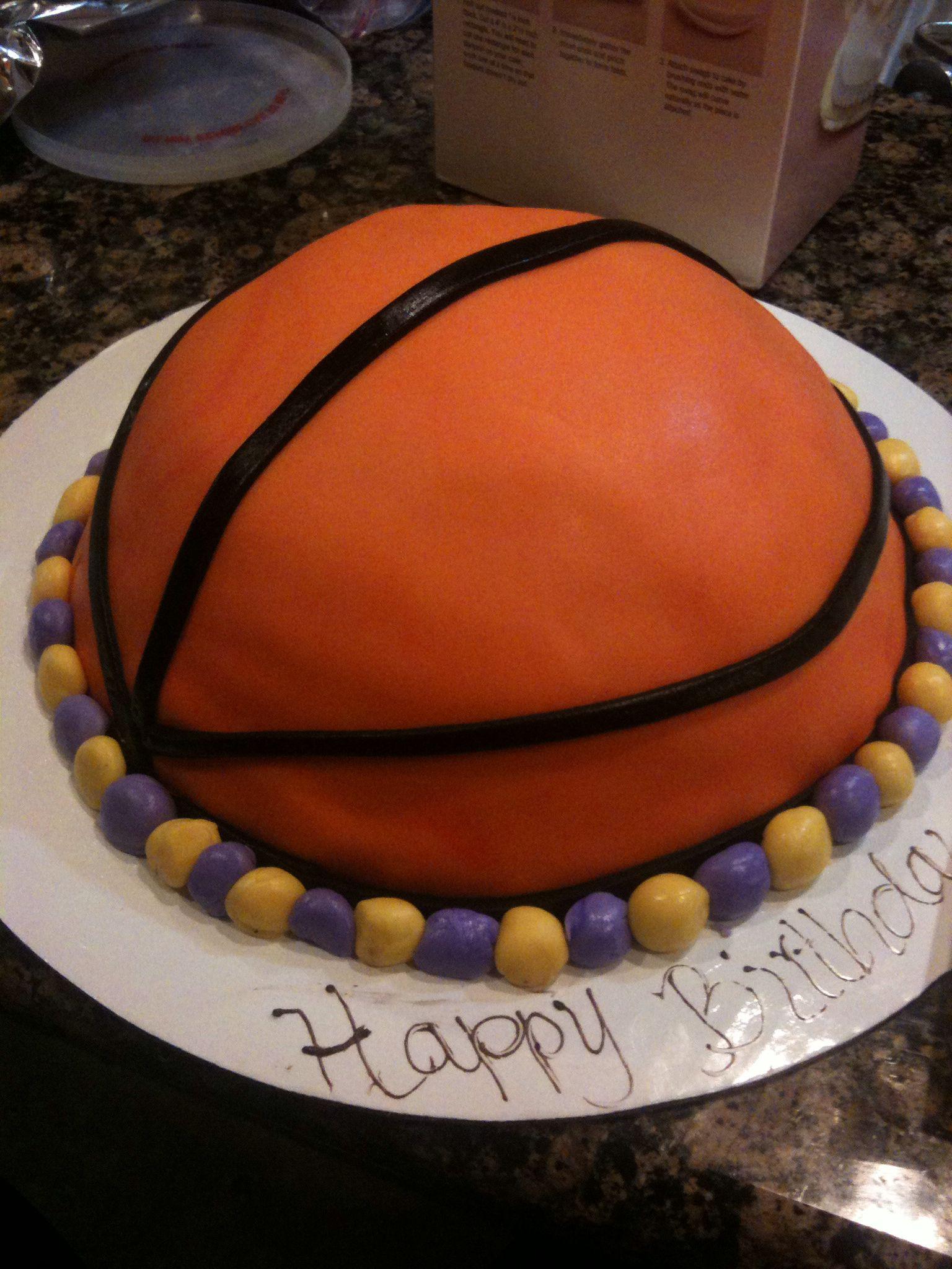 Basketball cake cake pop decorating
