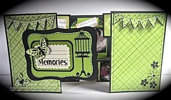 Tri Fold Shutter Card Tutorial Tri Fold Mini Album Mini