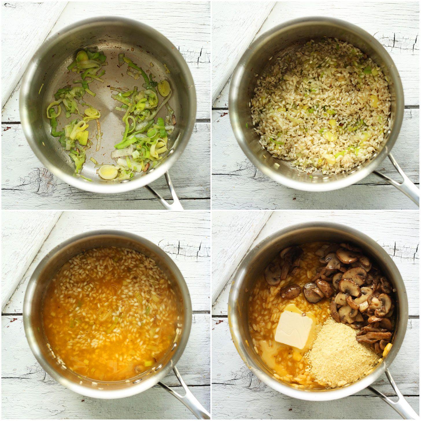 Mushroom And Leek Risotto Vegan Gf Minimalist Baker Recipes Recipe Leek Risotto Stuffed Mushrooms Leeks