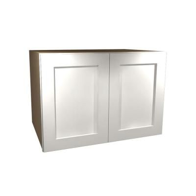Home Decorators Collection Newport Assembled 30 X 18 X 24 In Plywood Shaker Deep Wall Kitchen Cabinet Soft Close In Painted Pacific White W302418 Npw The Hom Cabinet Home Decorators Collection Shaker Style Doors