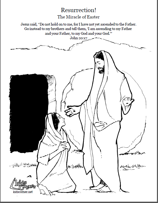 Resurrection Story Coloring Page Script And Audio Bible