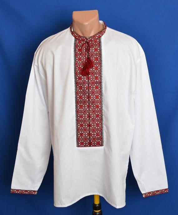 Embroidered folk man shirt QlZQp1AZtA
