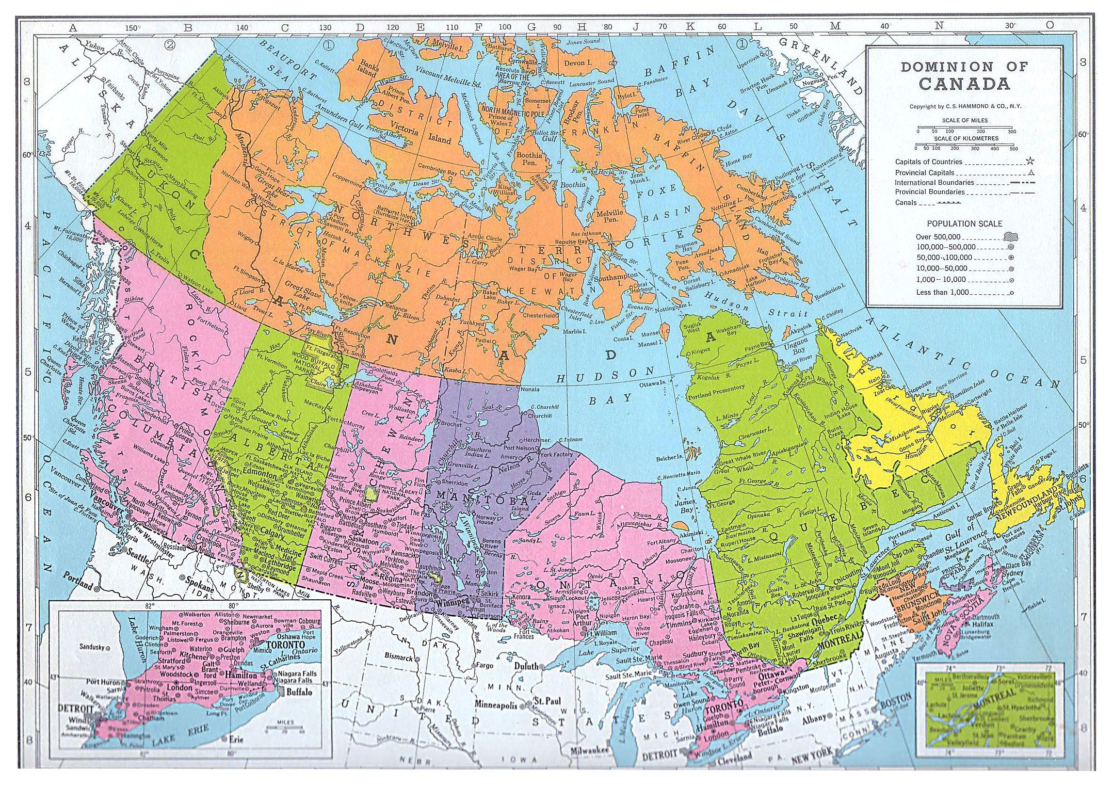 Canada 1949 map | COUNTRY-----CANADA | Printable maps, Map ...