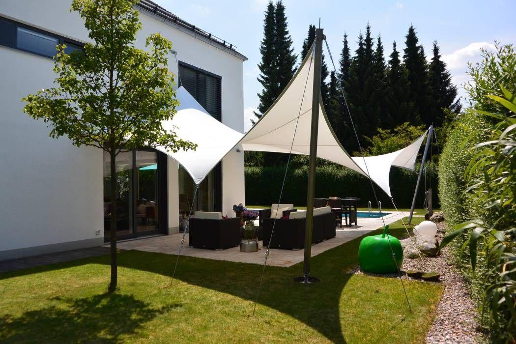 Sonnensegel moderner balkon, veranda & terrasse von ...