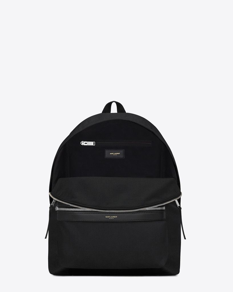 Saint Laurent Classic Hunter Backpack in Black Nylon Canvas & Leather $890 on YSL site - Now $699 @ KikiCloset.com - 1 LEFT!