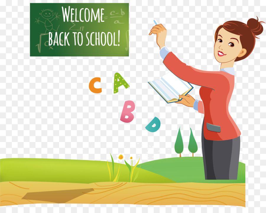 المعلم الكرتون جميلة المعلم تحميل شفاف Png Clip Art Back To School Welcome Back To School