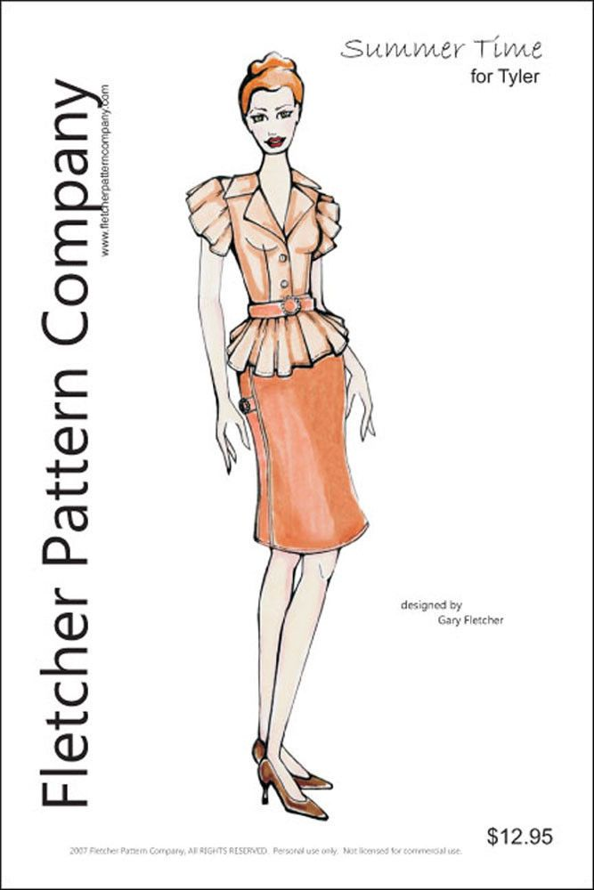 Holiday Dress Doll Clothes Sewing Pattern for Tyler Fletcher Tonner