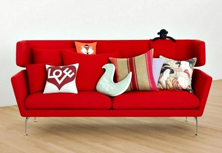 Red Sofa Throws Decor Endearing Maximize For Gorgeous