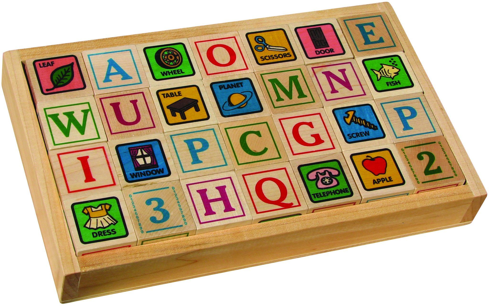 Wooden toys images  ABC Blocks Printed with Tray  Trays and Products