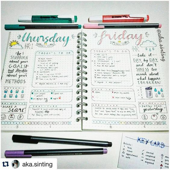 24 aesthetically pleasing bullet journal layout ideas that for Daily photo ideas