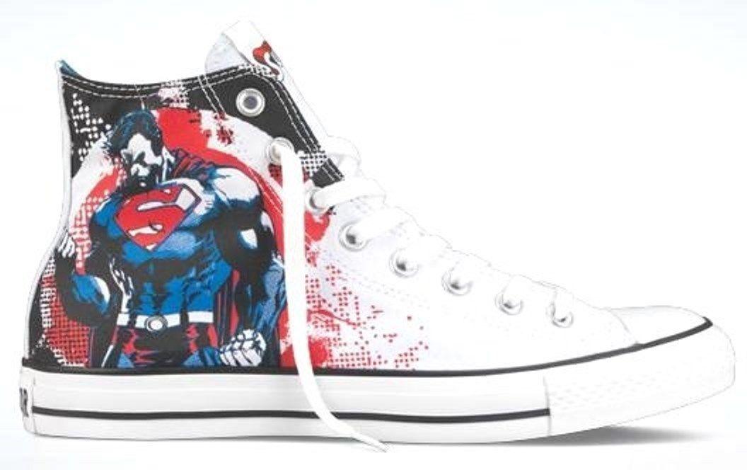 AUTHENTIC Converse Chuck Taylor All Star Hi Justice League Superman mens size
