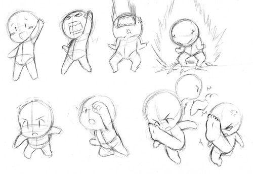 Chibi Action Poses Chibi Drawings Chibi Body Cartoon Drawings