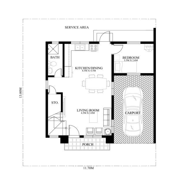 Modern house design mhd 2014014 is a 3 bedroom two story for Search floor plans by features