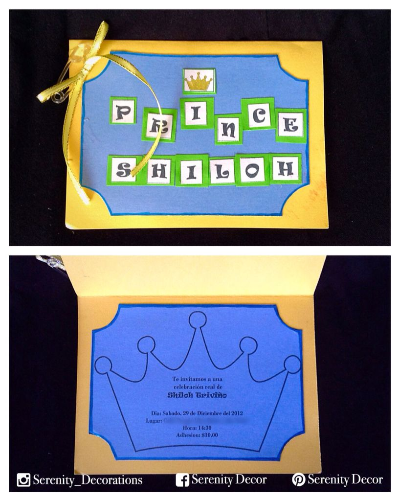 Baby Boy Shower Invitation - Prince Theme #babyshower #invitation #littleprince #invitación #Principe