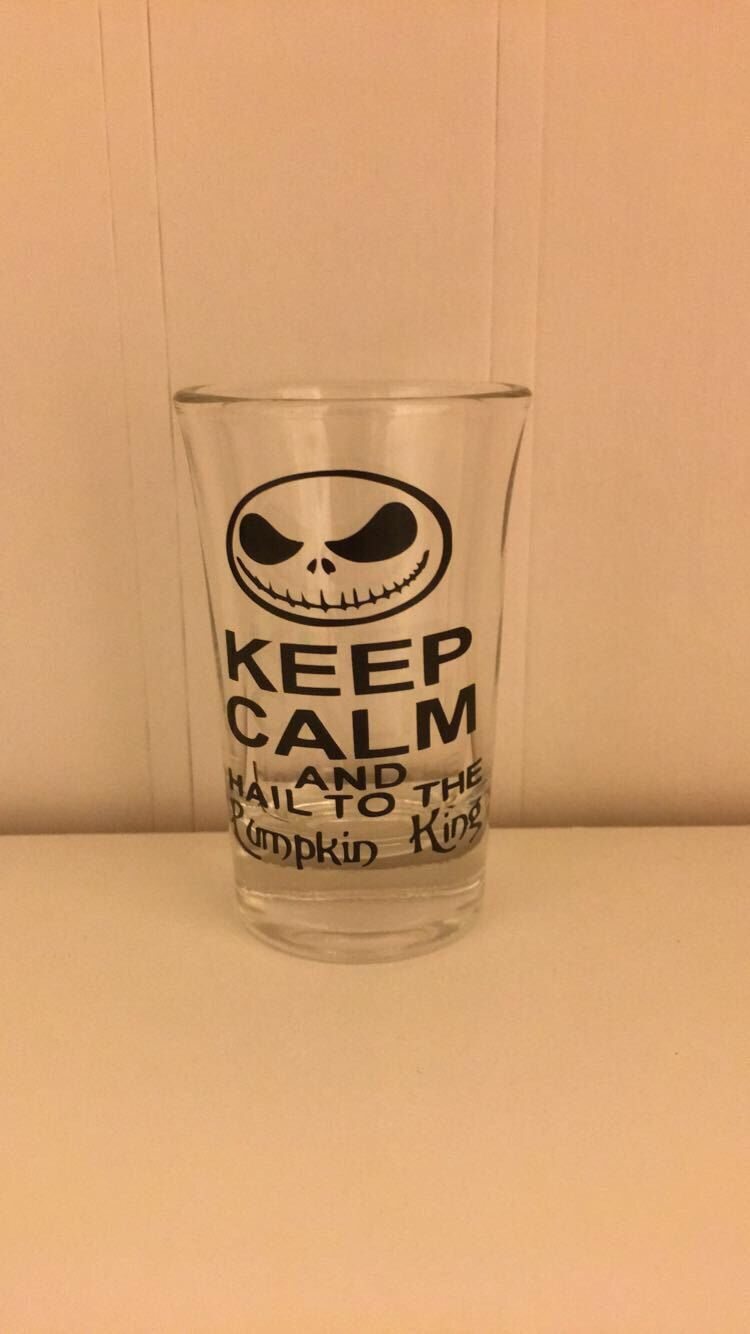 Nightmare before christmas shot glasses | Gifts | Pinterest | Glass
