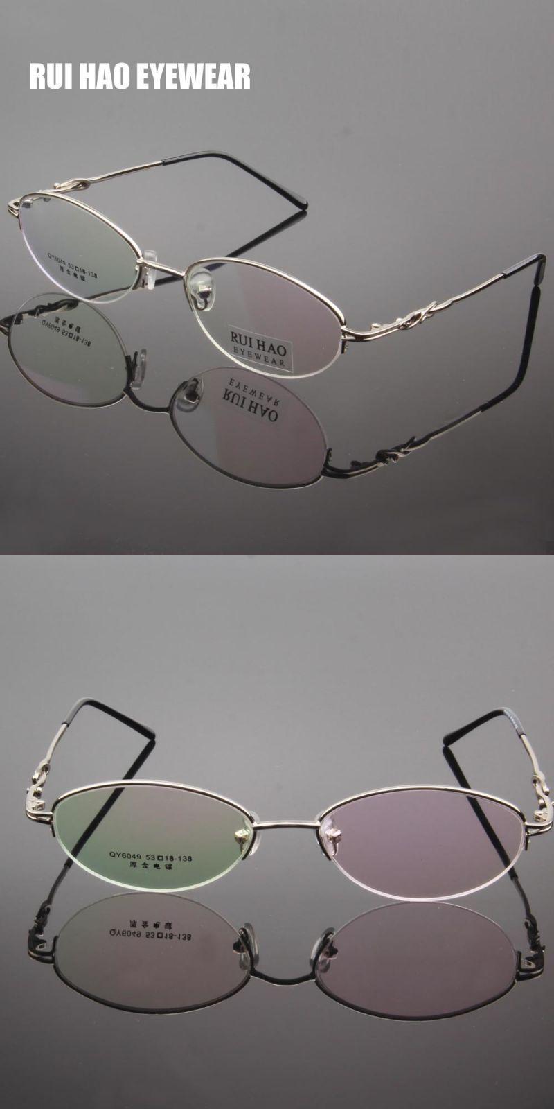 8068e1e2b884 Rui hao eyewea oval eyeglasses frame women half rimless brand glasses frame  optical spectacles frames prescription