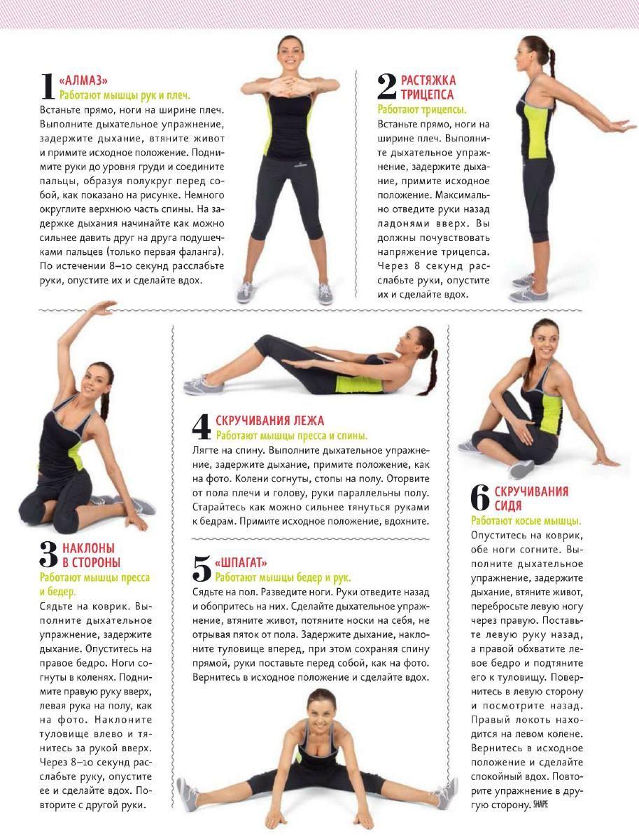 Самые популярные и эффективные упражнения для похудения живота, бедер и рук