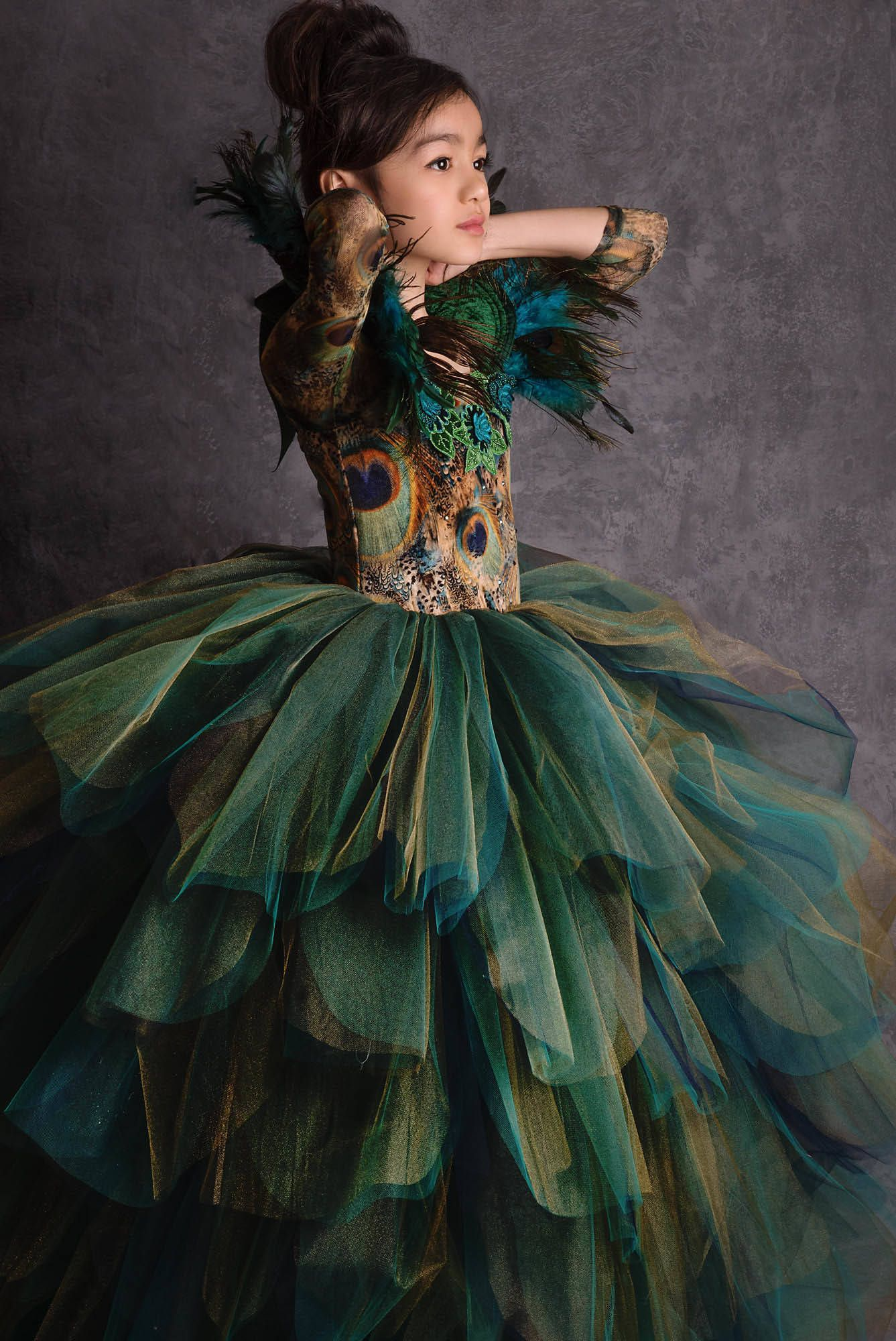 LIMITED EDITION Couture Peacock Gown in 2020 Peacock