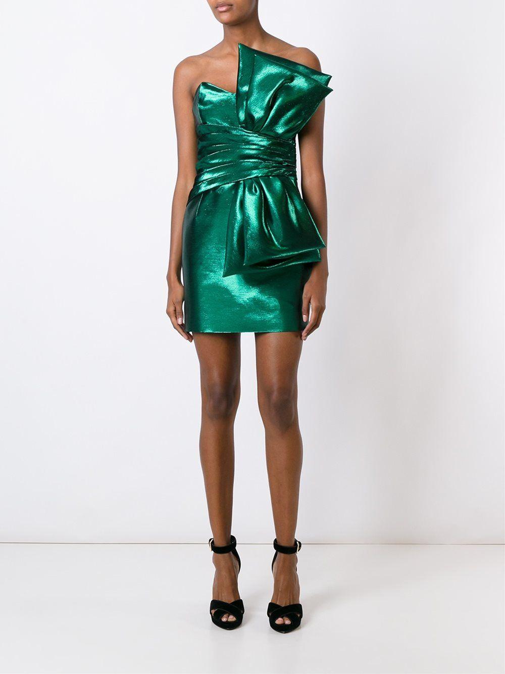 10a1b97754b Saint Laurent strapless bow mini dress   Women's Fashion in 2019 ...