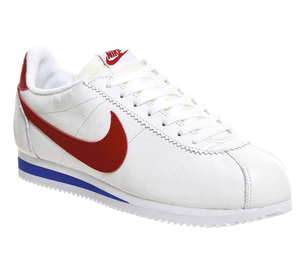 Nike Classic Cortez Og Unisex Sports L2r5397 White Varsity Red Royal Prem