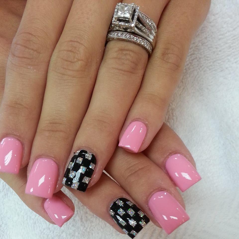Pin By Shelli Jo On Nails Checkered Nails Summer Nails Colors Cute Summer Nails