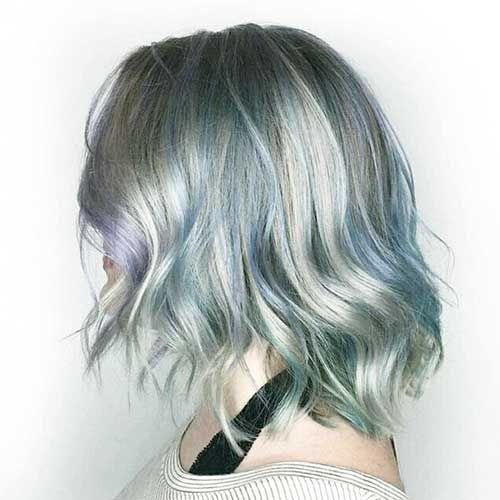 Exclusivo e Elegante Curta de Cabelo Azul Ideias ✿  Azul  Cabelo  curta   72608c2cd9