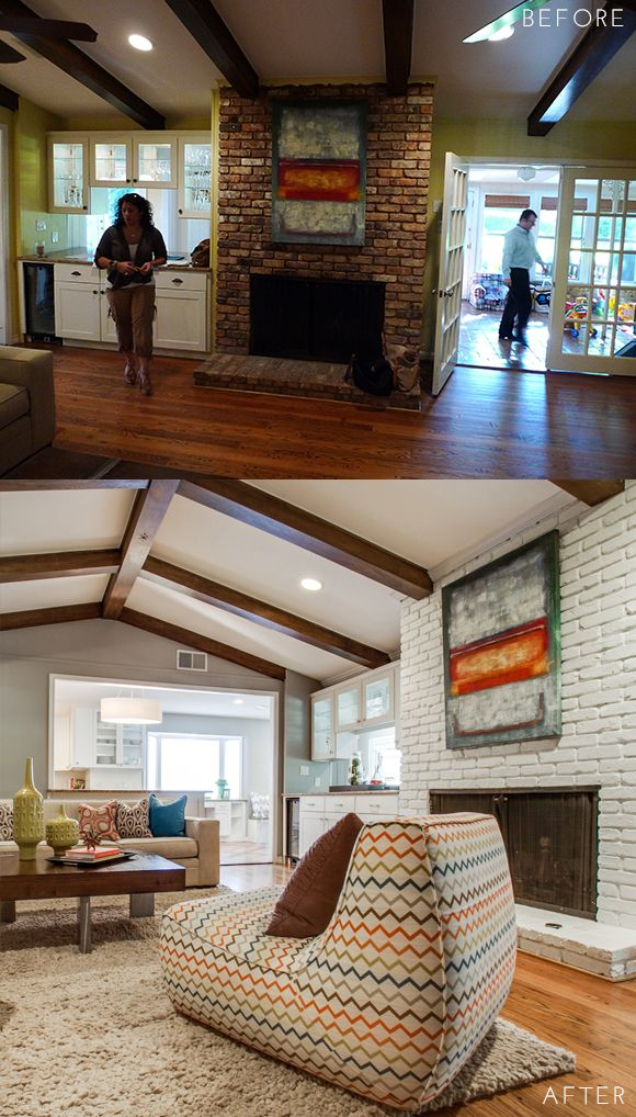 Before  Afterpulp Design Studios Preston Hollow Bungalow Beauteous Bungalow Living Room Design Review