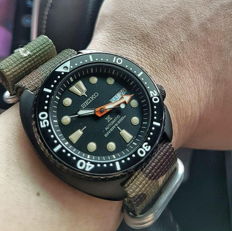 The different strap for Black Turtle   Seiko Black Turtle SRPC49K1