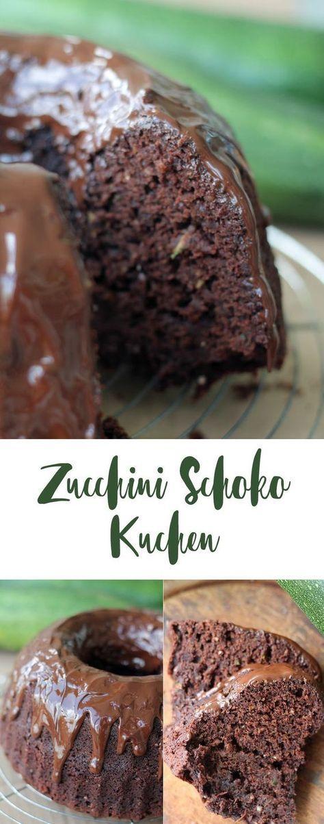 Zucchini Schoko Kuchen mit Nuss - Guglhupf oder Blechkuchen #schokokuchen