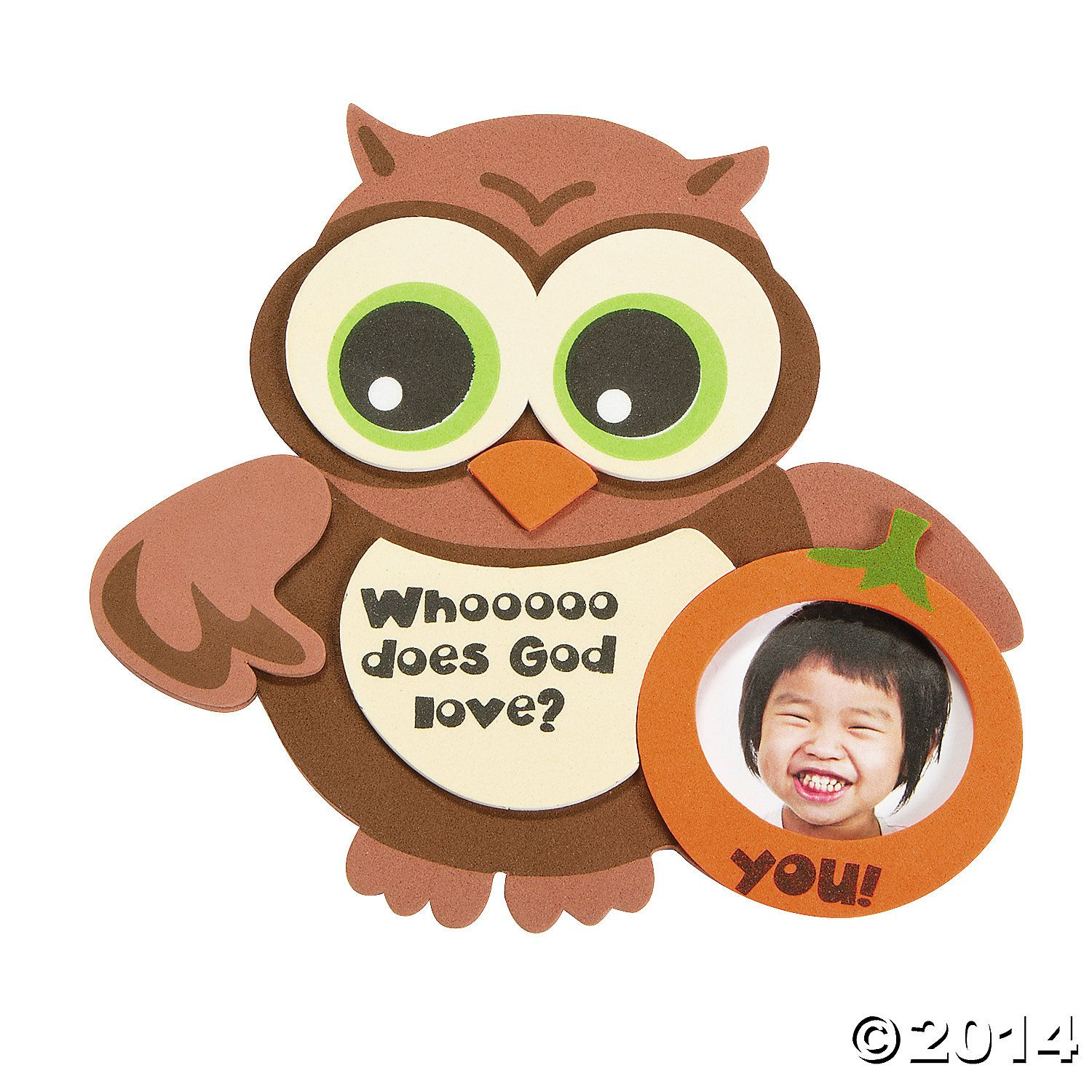 Whooo+Does+God+Love?+Owl+Picture+Frame+Magnet+Craft+Kit+-+OrientalTrading.com