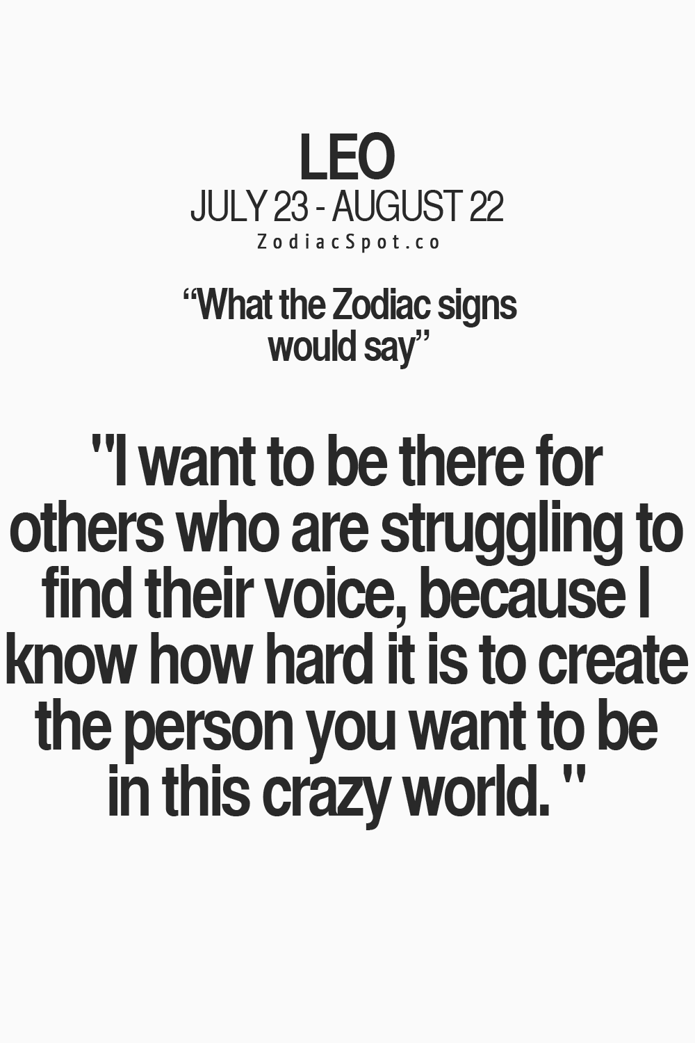 Yes and it's crazy when people think your not genuine