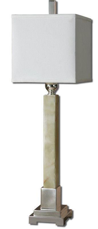 Uttermost 29924 1 kemonte green marble buffet lamp